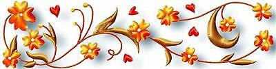 Floral Borders 20 Machine Embroidery Design Cd  2 Sizes