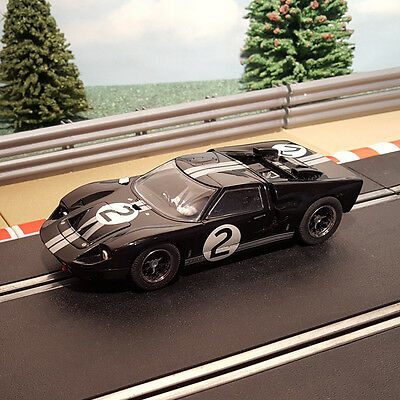 Scalextric 1:32 Car - C2463 Le Mans 1966 Black Ford GT40 #2 *LIGHTS*