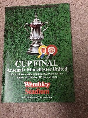 Arsenal V Manchester United Fa Cup Final Programme 1979
