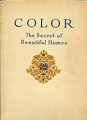 Colors The Secret of Beautiful Homes. Orinoka Mills. By Ethel Seal 1928 Textiles