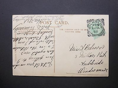 """GB Cheshire 1905 KEVII 1/2d """"Good Old Jeff"""" Postcard WILMSLOW Squared Circle Pmk"""