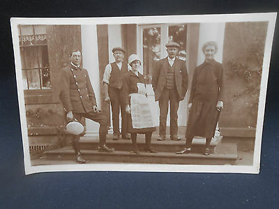 Annan ** COUNTRY HOUSE STAFF ** Real Photo Postcard c.1918 (Dumfries)