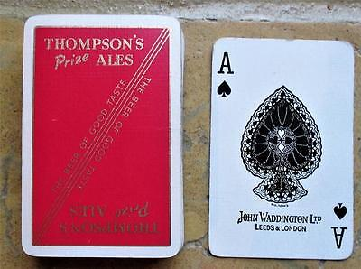 Thompsons Prize Ales Barrow In Furness Full Pack  John Waddington Playing Cards