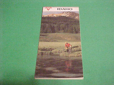1965 Map Of Idaho Souvenir Map With Conoco Advertisement
