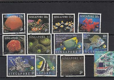 Singapore.12 -- Recent Mounted Mint/used Stamps On Stockcard