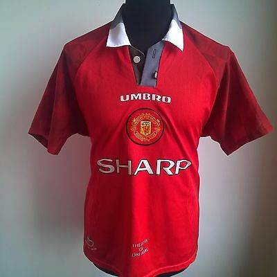 Manchester United 1996 Home Football Shirt Umbro Jersey Size Adult M