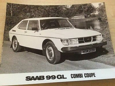 SAAB 99 GL COMBI COUPE  OFFICIAL SAAB PRESS RELEASE PHOTO (A)  1976    #Saa9904