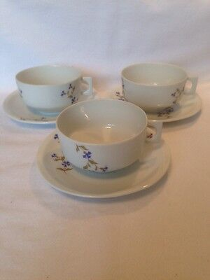 Modern Cups And Saucers By Bernardaud  Of Limoges