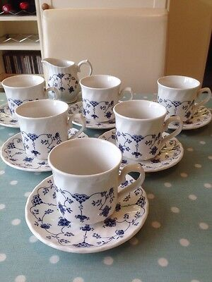 Vintage Churchill Finlandia Cups & Saucers. A Set Of 6. Great Condition. Wedding