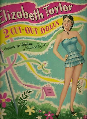 Elizabeth Taylor 1949 Uncut Original Whitman 968 Paper Doll Book