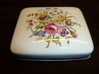 lovely royal worcester trinket pin dish lid perfect condition china flowers