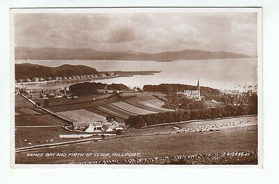 Kames Bay Firth Of Clyde Millport Cumbrae 1930 Real Photograph Jellings Boxworth