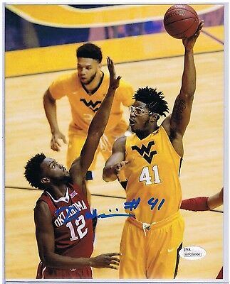 Devin Williams West Virginia Mountaineers Signed 8X10 #3 JSA FREE SHIPPING