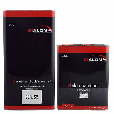 Etalon 98PL 2K High Gloss Acrylic Lacquer Clearcoat 7.5L Extra Fast Activator