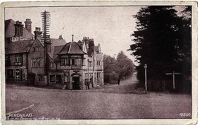 Hindhead, Post Office, old postcard, posted 1915