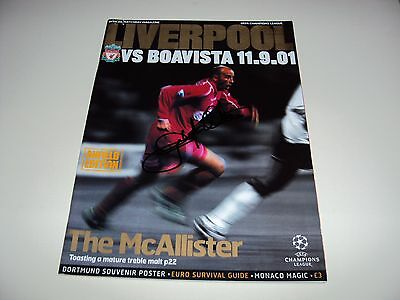 Liverpool 2001 Match Day Magazine Programme Hand Signed Gary Mcallister Kop Icon