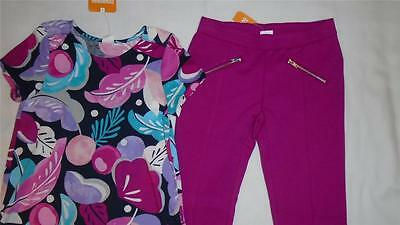 NEW Girls Size 7 Gymboree Outfit Back to Blooms Drapey Top & Ponte Pants $52 NWT