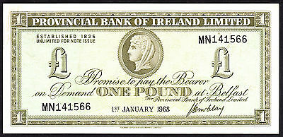 Provincial Bank of Ireland Limited 1 Pound 1969 P. 245 Crisp VF+