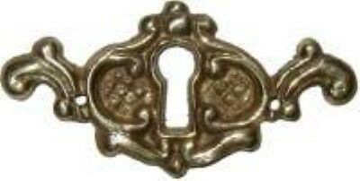 Victorian Style Cast Brass Keyhole Cover vintage antique restore furniture old