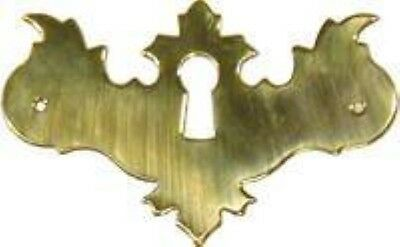 Polished Brass Early American Style Keyhole Cover vintage antique restore furnit