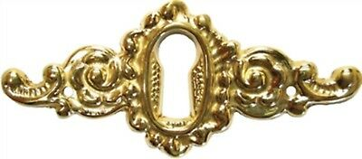 Cast Solid Brass Victorian Style KEYHOLE COVER antique vintage rustic desk old