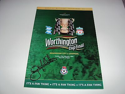 Liverpool 2001 Official Programme Hand Signed Gary Mcallister Worthington Cup