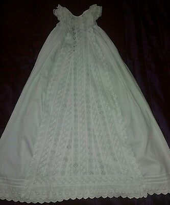 Antique Victorian Christening  Gown