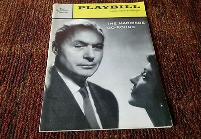 The Marriage-Go-Round Charles Boyer Claudette Colbert Julie Newmar 1959 playbill
