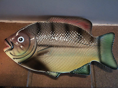 Vintage Retro Perch/roach Fish Pin/trinket/key/dresser Tray/dish-Mint Condition.