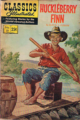 CLASSICS ILLUSTRATED #19 VG, HRN #169, Huckleberry Finn, Gilberton 1970