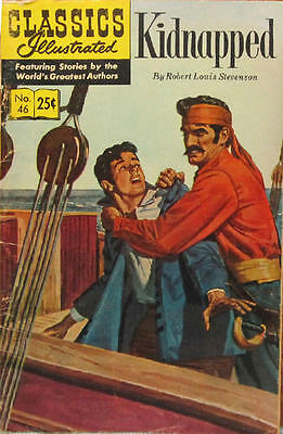 CLASSICS ILLUSTRATED #46 VG, HRN #169, Kidnapped, Gilberton 1970