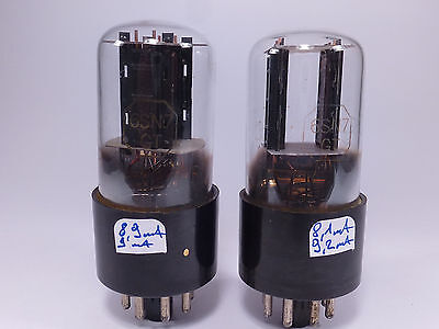 two rare 6SN7GT Adzam input preamplifier tubes black plates matched with U61C