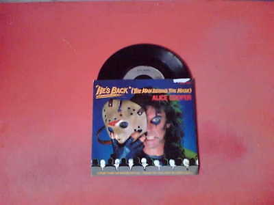"ALICE COOPER He's Back (The Man Behind The Mask) 7"" Vinyl 45!"