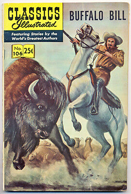 CLASSICS ILLUSTRATED #106 VG, HRN #169, Buffalo Bill, Gilberton 1970