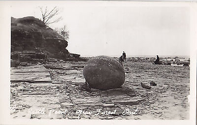 Kettle Point Lake Huron near FOREST Ontario Canada 1940s Real Photo Postcard