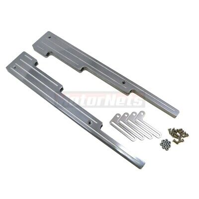 Polished Aluminum Ball-Mill Spark Plug Wire Loom Dividers Separator SBC BBC Ford