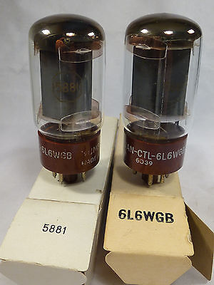 one pair 5881 6L6WGB TUNG-SOL military grade 6L6 NIB and tested with U61C