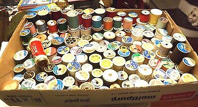 Large Lot of Approx 125 Spools of Polyester Sewing Thread