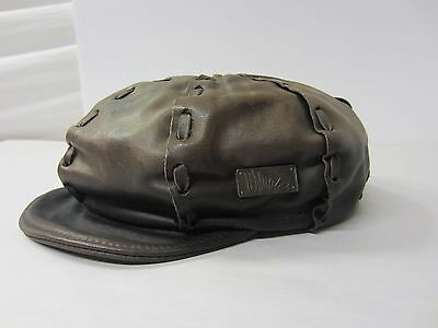 Vintage Harley Davidson Willie G Leather Newsboy Cap Hat Small Made In Usa
