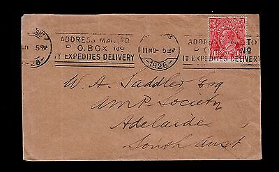 Australia 1926 KGV cover 1½d red issue see scans x2