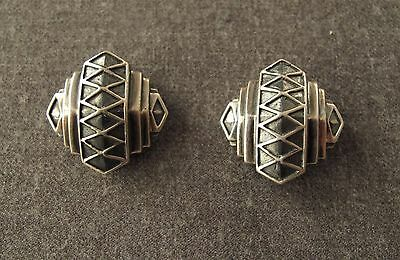 Vintage Authentic Esti Frederica Sterling Silver Earrings