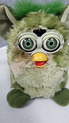 """1998 Tiger Electronics 70-800 Furby Green & Yellow Brown Eyes Tested Works 6"""""""