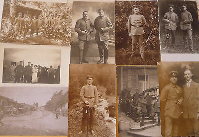 WW I  German  Soldiers Original  8  Fieldpost / Postcards over 100 year old