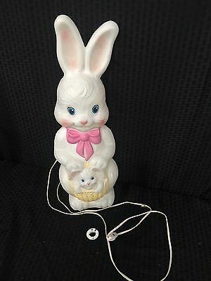 Vintage Empire Easter Bunny Rabbit Blow Mold Lighted Yard Decoration