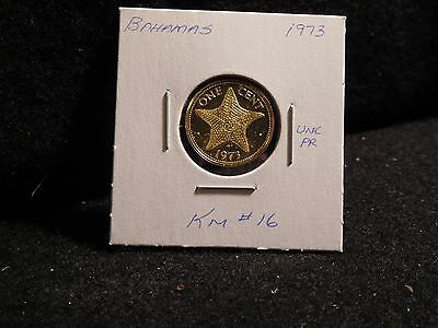 Bahama Islands:   1973    1 Cent  Coin Proof   (Unc.)    (#2543)  Km # 16