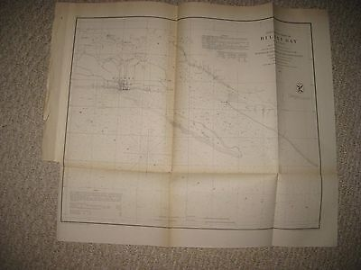 Gorgeous Rare Early Antique 1855 Biloxi Bay Mississippi Map Finely Detailed Nr