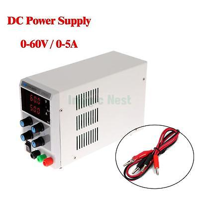 60V 5A DC Regulated Power Supply Adjustable Variable Digital Lab Grade w/ Cable
