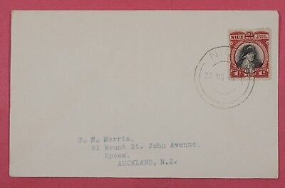 1948 Niue Cook Islands Single Franked Cover To Auckland New Zealand 2