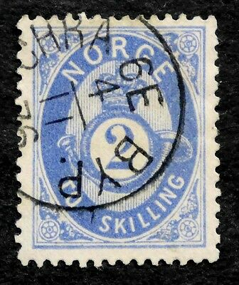 Norway: 1874 Classic Era Stamp Scott #17 Used Sound Cv $40.00