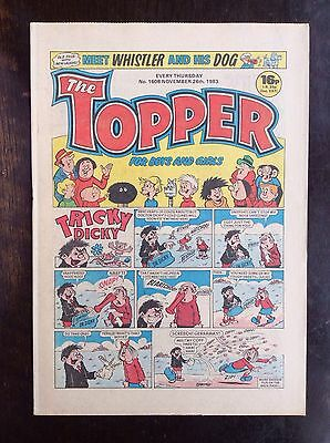 The Topper Comic 26 Nov 1983. No.1608 Unread/unsold Newsagents Stock. Nr Mint (1